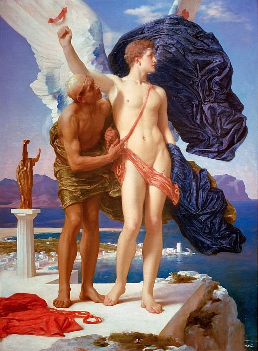 Daedalus and Icarus. Frederick Leighton
