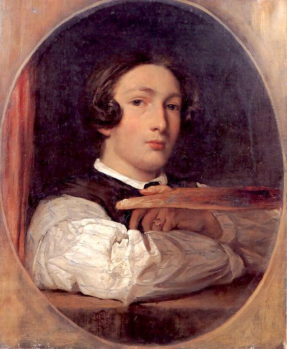 Self portrait as a boy. Frederick Leighton