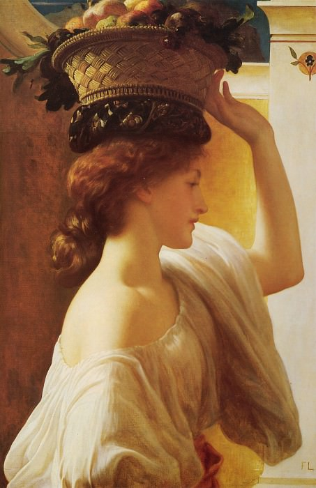 A Girl with a Basket of Fruit. Frederick Leighton