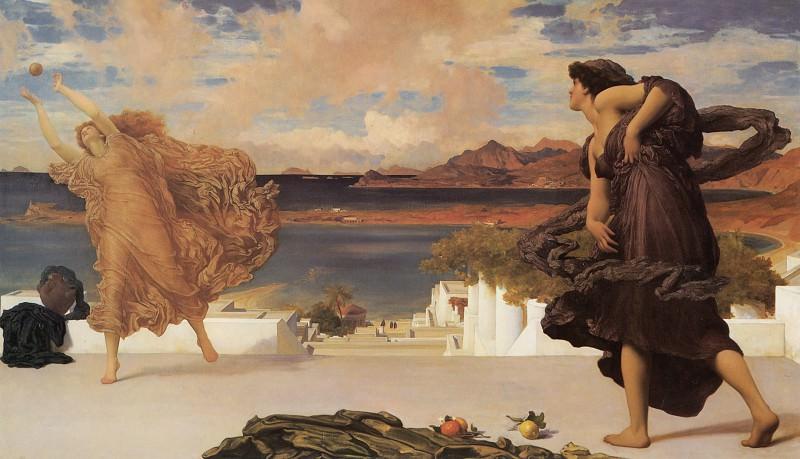 Greek Girls Playing at Ball. Frederick Leighton