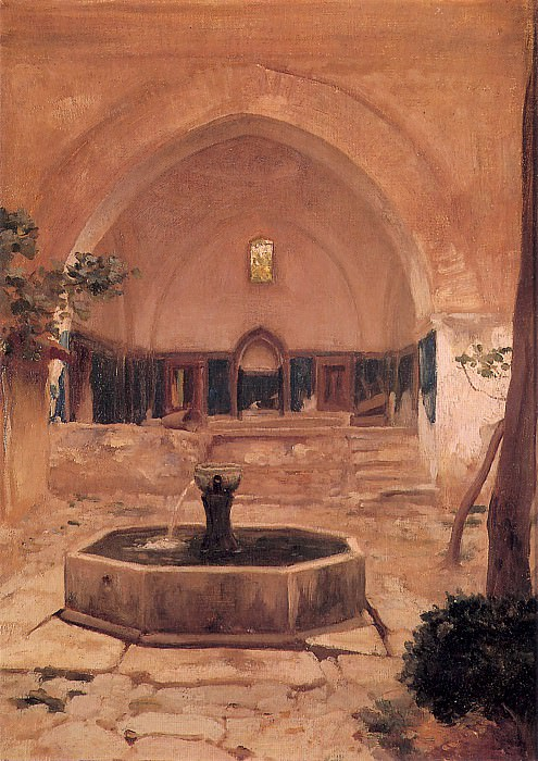 Courtyard of a Mosque at Broussa. Frederick Leighton