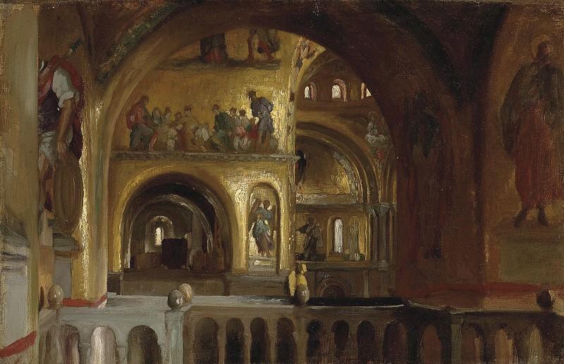 The Interior of St Marks Basilica, Venice. Frederick Leighton