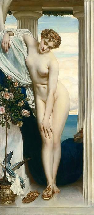 Venus Disrobing for the Bath. Frederick Leighton