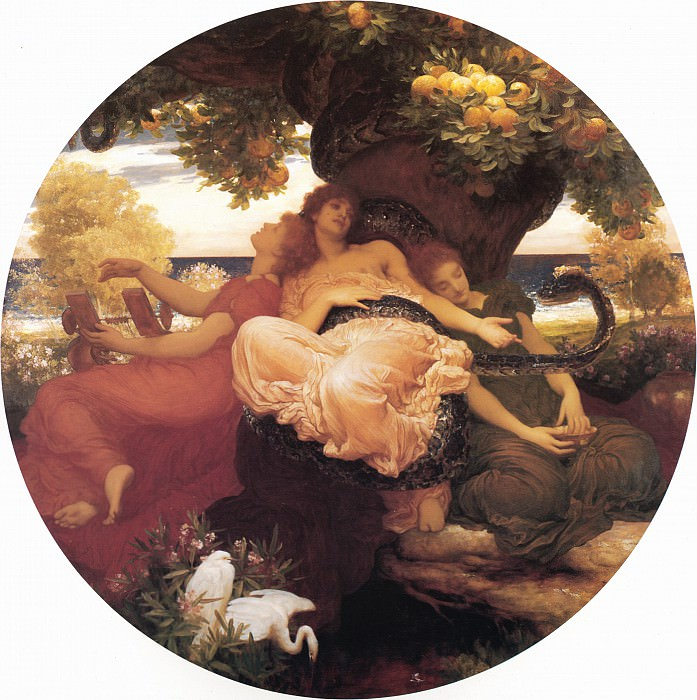 The Garden of the Hesperides. Frederick Leighton
