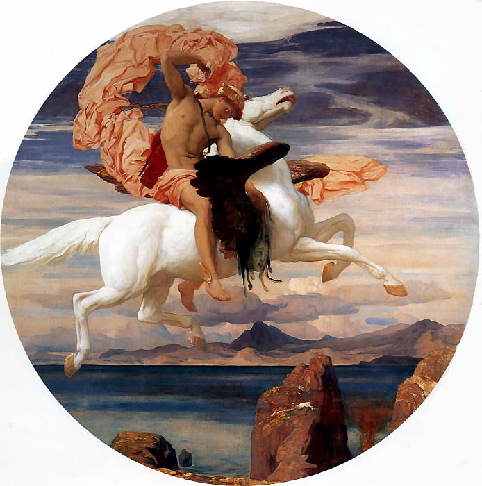 Perseus on Pegasus Hastening to the Rescue of Andromeda. Frederick Leighton
