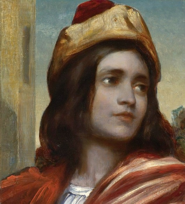 Musician's Head From Cimabue. Frederick Leighton