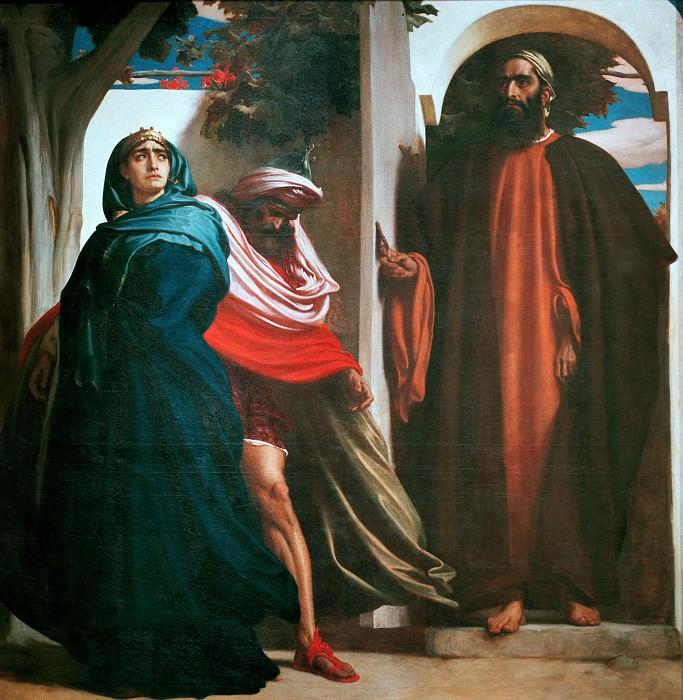 Jezebel and Ahab. Frederick Leighton