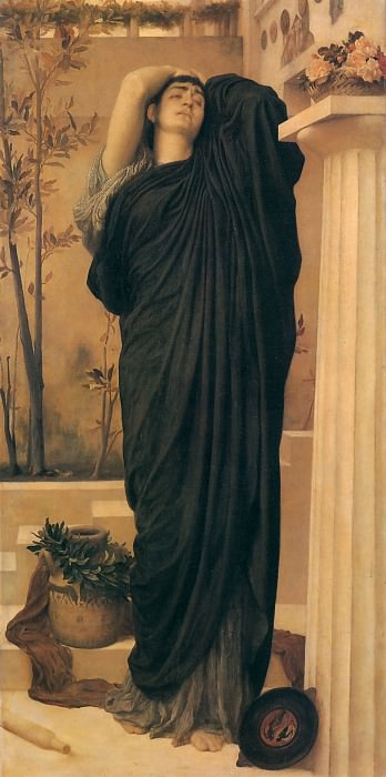 Electra at the Tomb of Agamemnon. Frederick Leighton