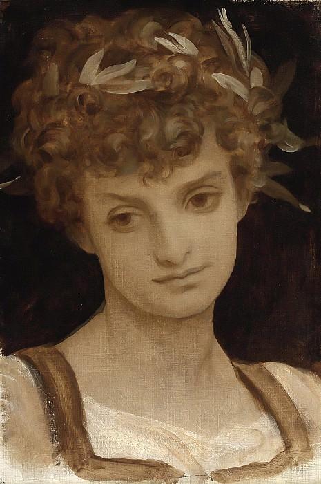 Girls Head. Frederick Leighton