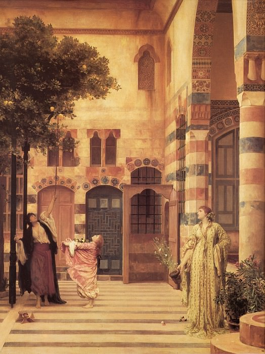 Old Damascus - Jews Quarter. Frederick Leighton
