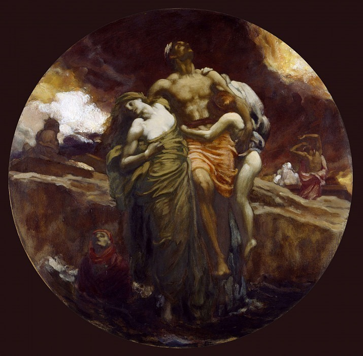 And the Sea Gave Up the Dead Which Were In It. Frederick Leighton