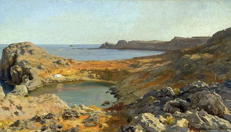 St Pauls Bay At Lindos, Rhodes. Frederick Leighton