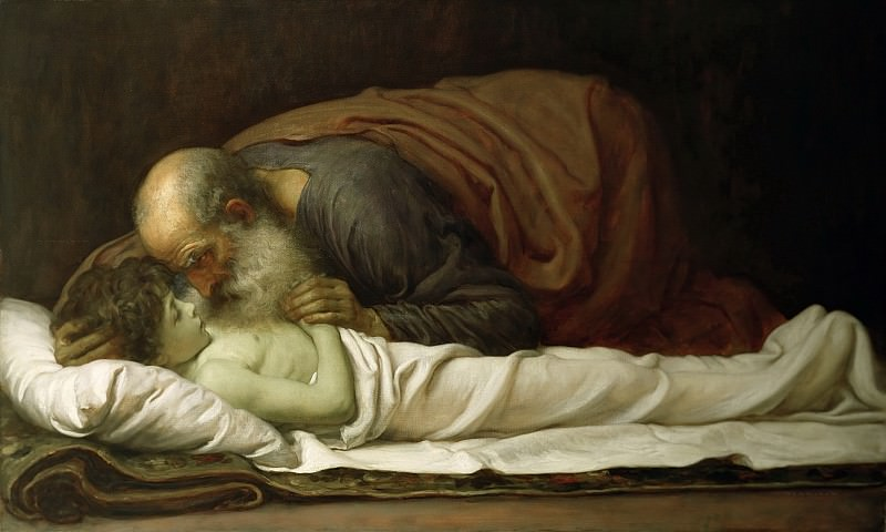 Елисей воскрешает сына сунамитянки. Фредерик Лейтон