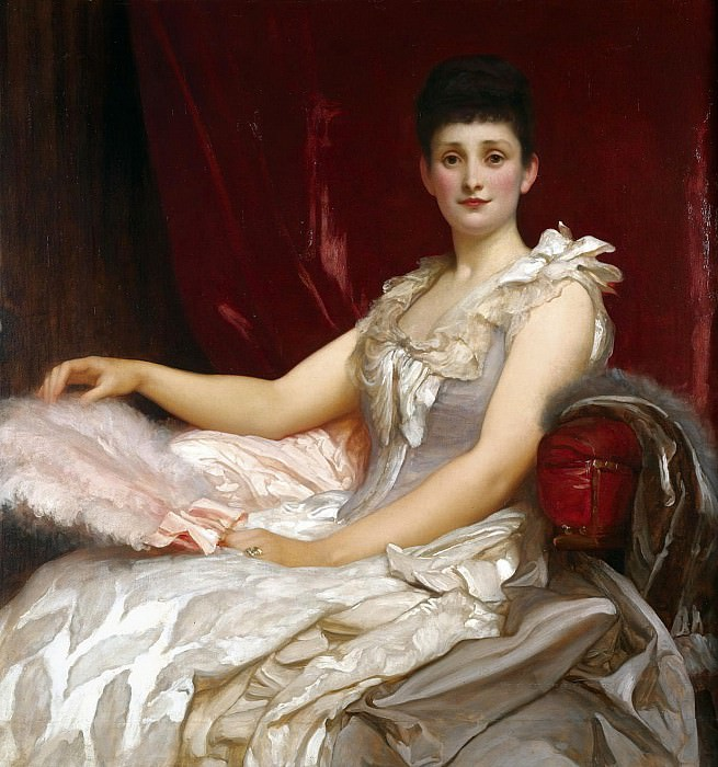 Portrait Of Amy Augusta, Lady Coleridge. Frederick Leighton