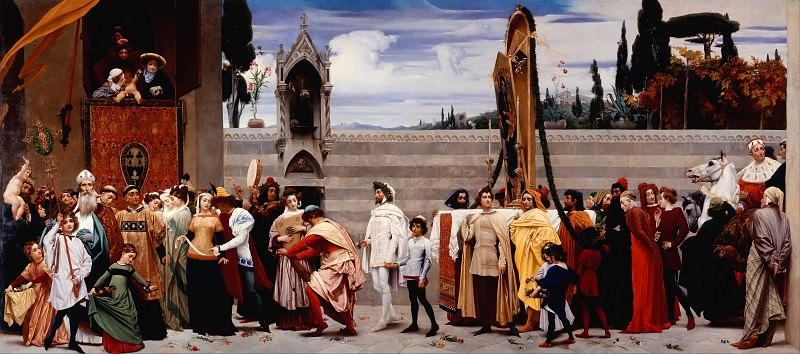 Cimabue s Madonna Carried in Procession. Frederick Leighton