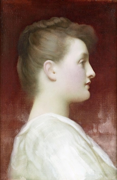 Girl in profile. Frederick Leighton