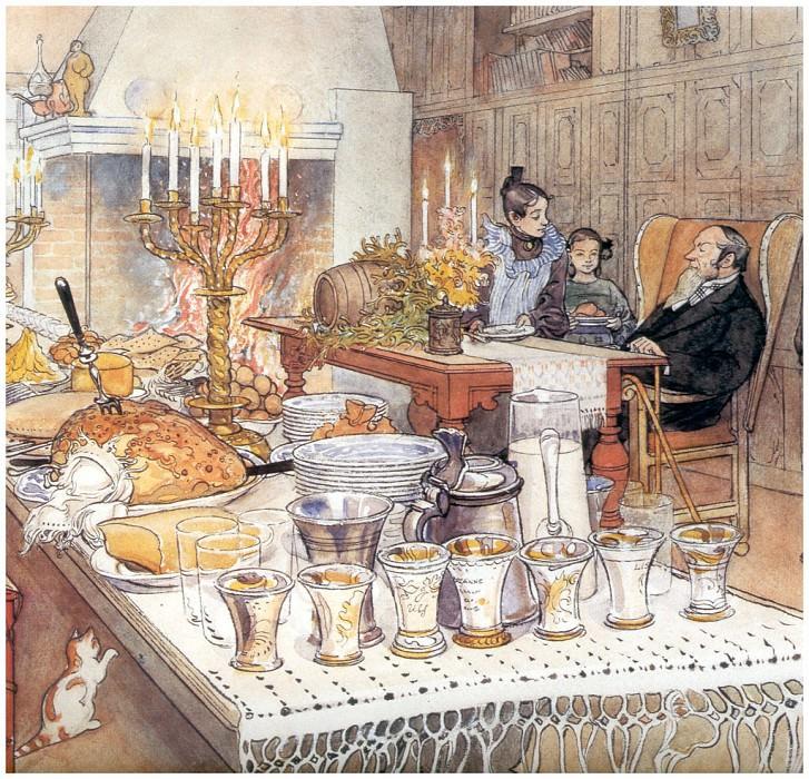 Канун Рождества (фрагмент), 1904-06. Карл Улоф Ларссон