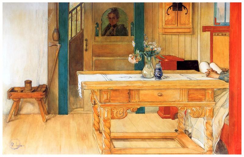 El descanso dominical 1900. Carl Larsson