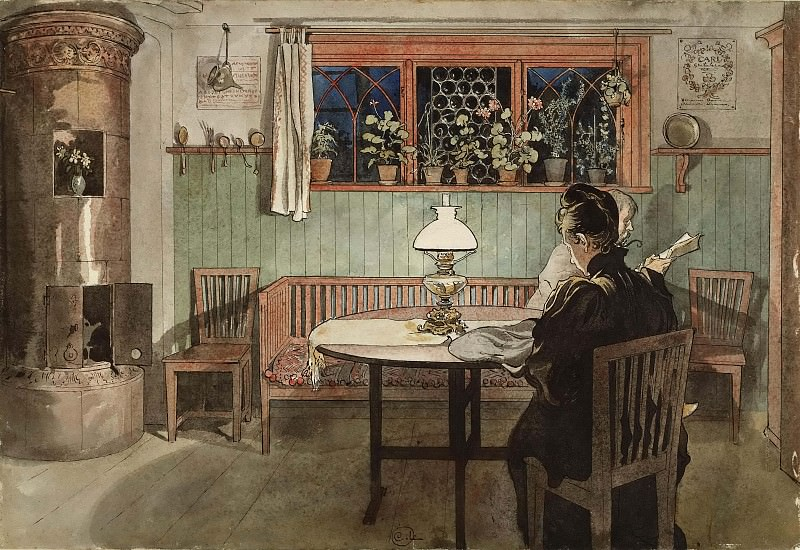 When the Children have Gone to Bed. From A Home. Carl Larsson