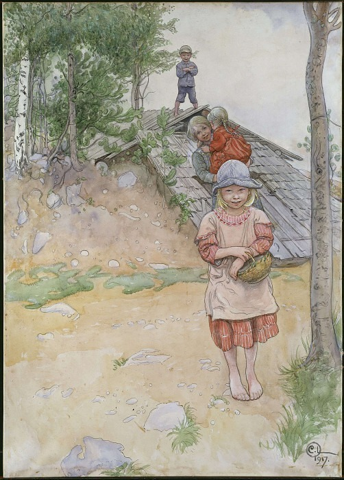 By the Cellar. Carl Larsson