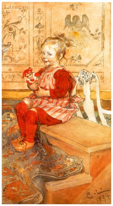 Lisbeth watercolour 1894. Carl Larsson