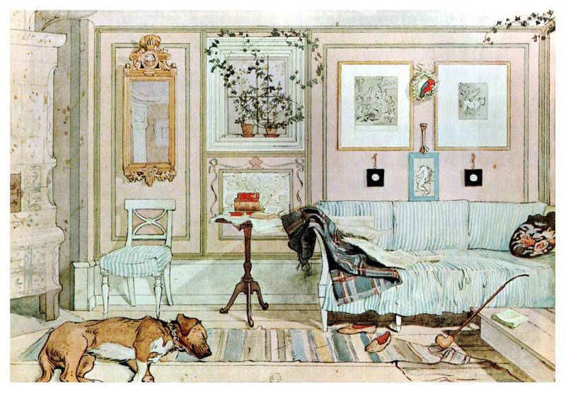 1894-97 Lazy Nook watercolor. Carl Larsson
