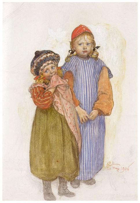 Дети плотника Хельберга, 1906. Карл Улоф Ларссон