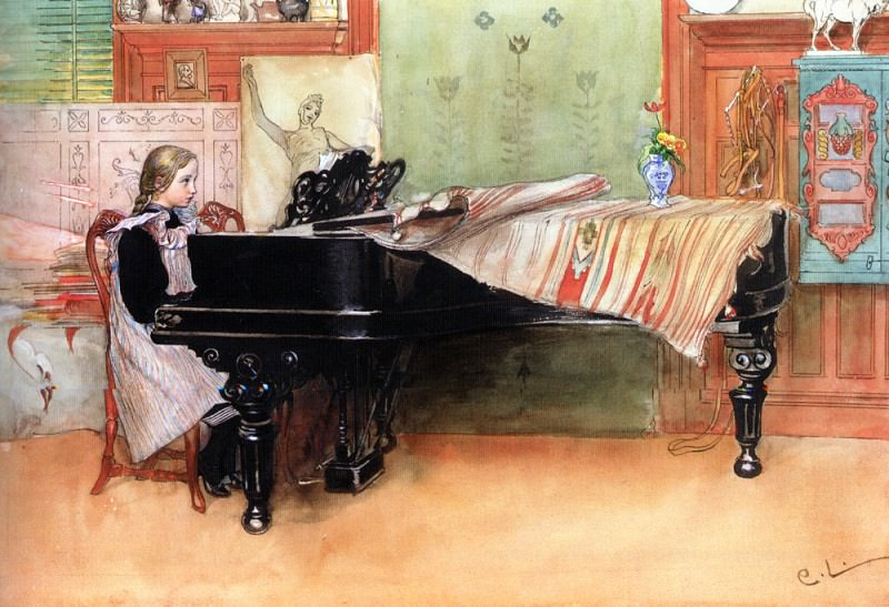 Skalorna (Playing Scales). Carl Larsson