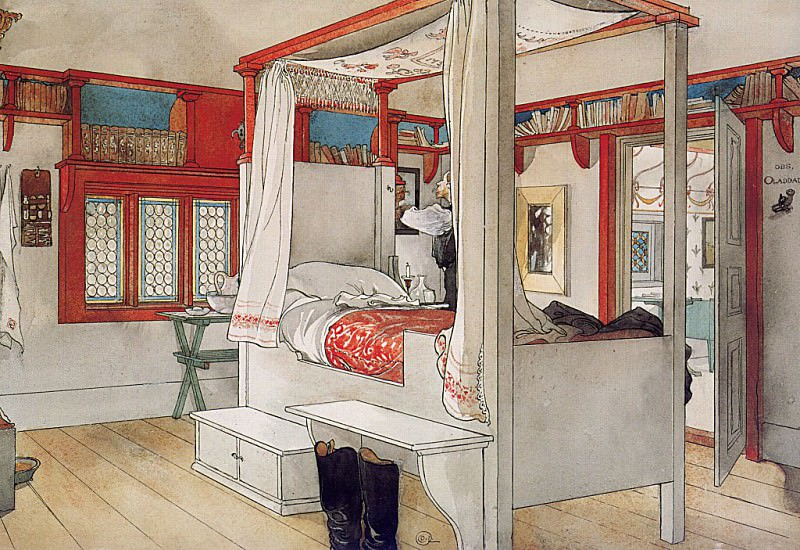 Daddys Room 1894-97. Carl Larsson