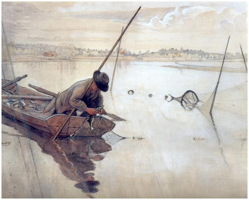 La pesca 1904-06. Carl Larsson