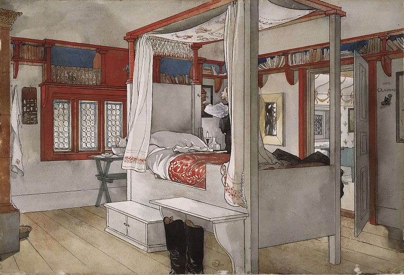 Daddy's Room. From A Home. Carl Larsson