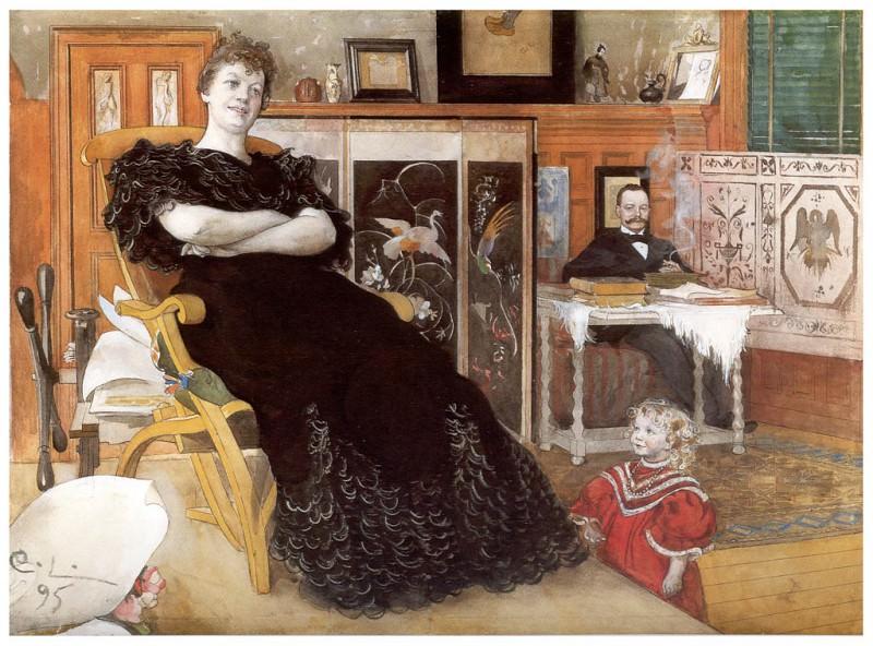 Retrato de Anna Petersson-Norrie1895. Carl Larsson
