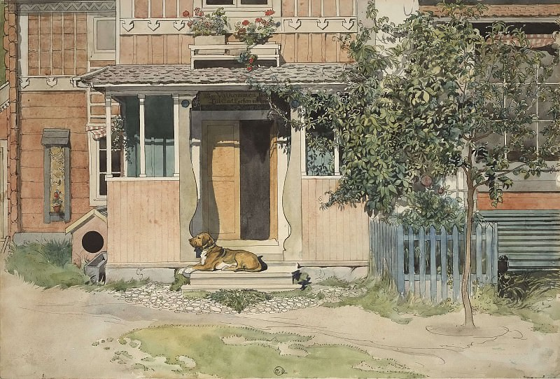 The Veranda. From A Home. Carl Larsson