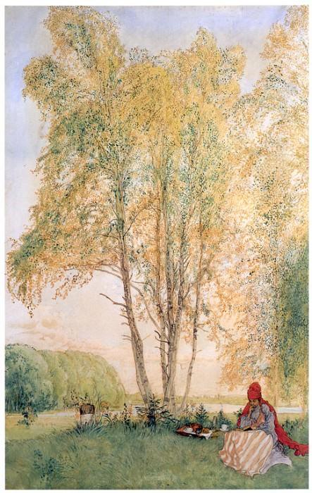 Под березами, 1902. Карл Улоф Ларссон