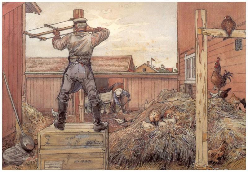 ls Larsson2 47 El monton de estiercol 1904.06. Carl Larsson