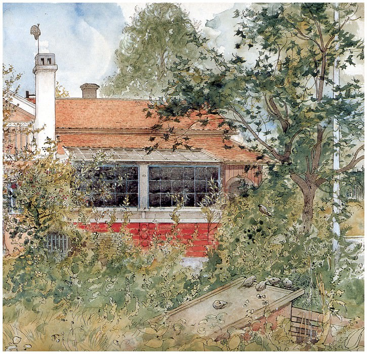 Дом (фрагмент), 1894-96. Карл Улоф Ларссон