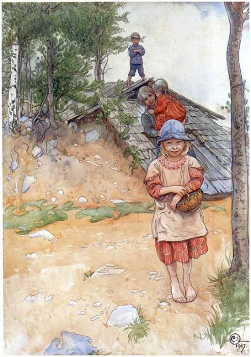 Cerca de la bodega 1917. Carl Larsson