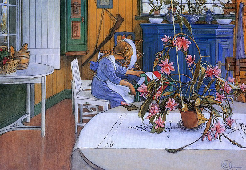 Interior with a Cactus 1914. Carl Larsson