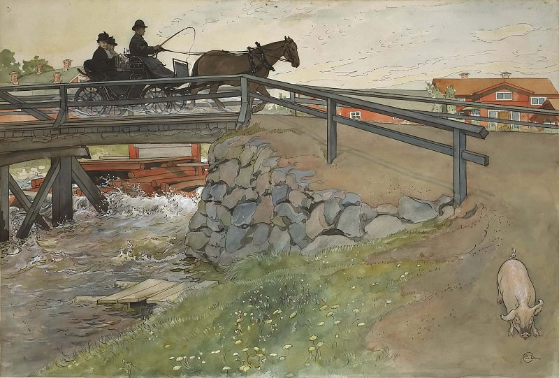 The Bridge. From A Home. Carl Larsson