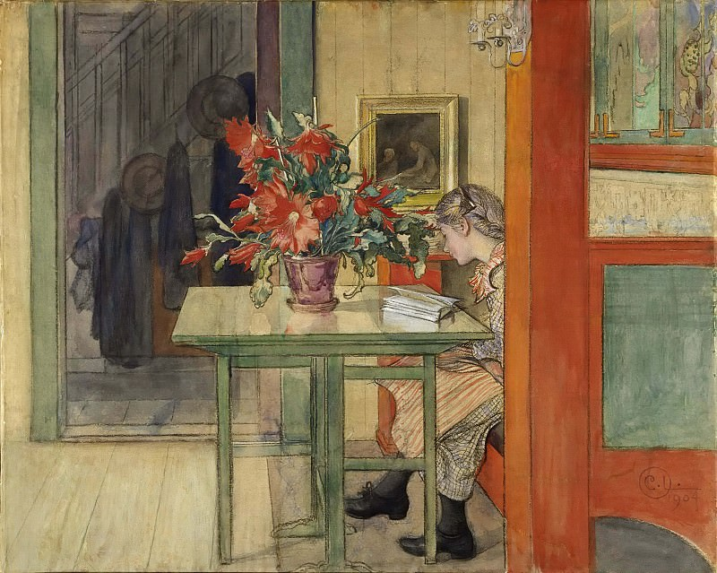 Lisbeth Reading. Carl Larsson