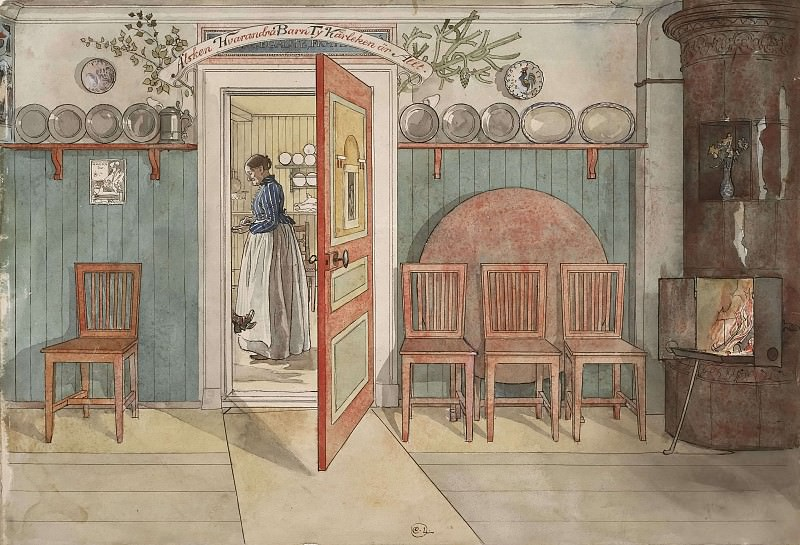 Old Anna. From A Home. Carl Larsson