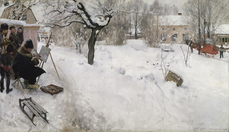 Open-Air Painter. Carl Larsson