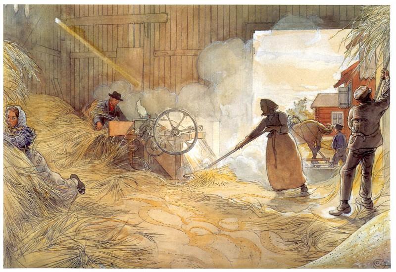 La Trilla Del Grano 1904-06. Carl Larsson