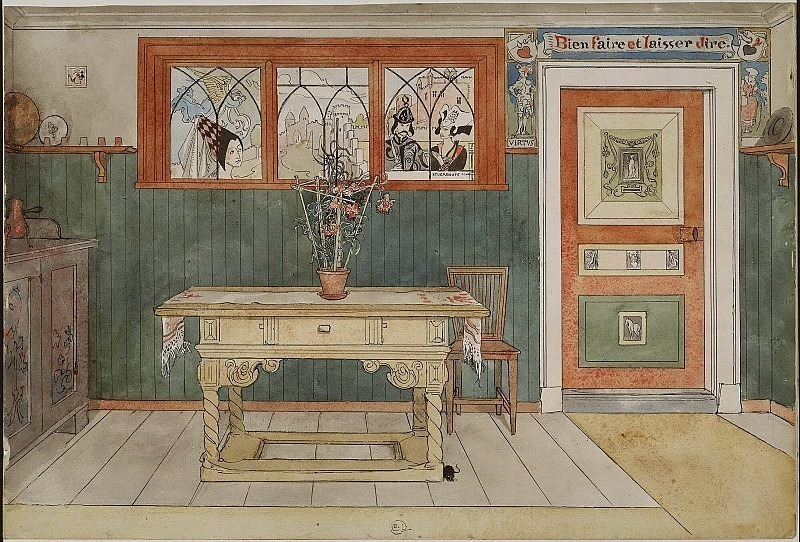 The Dining Room. From A Home. Carl Larsson