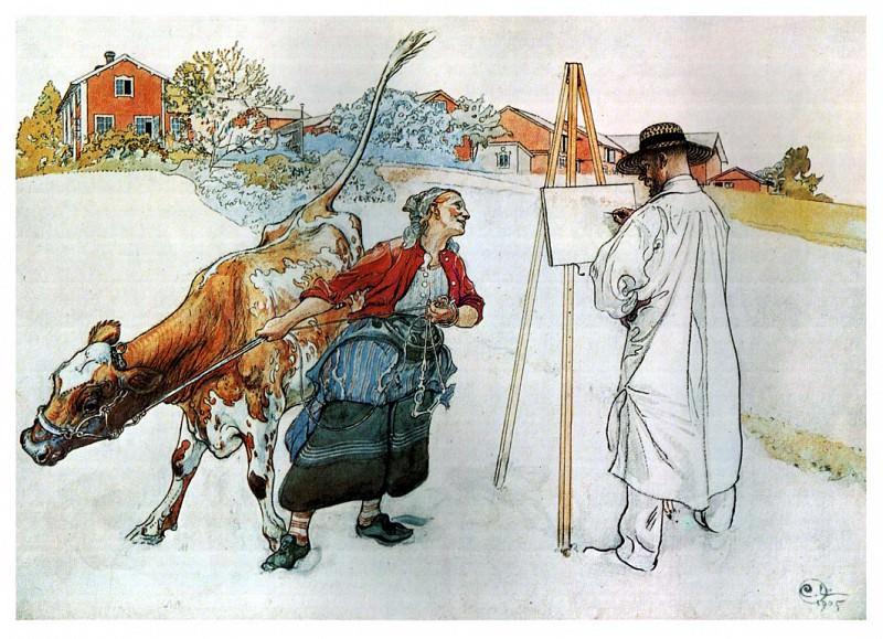 На ферме, 1905. Карл Улоф Ларссон