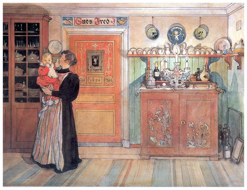 Entre Navidad y Aсo Nuevo 1894-96. Carl Larsson