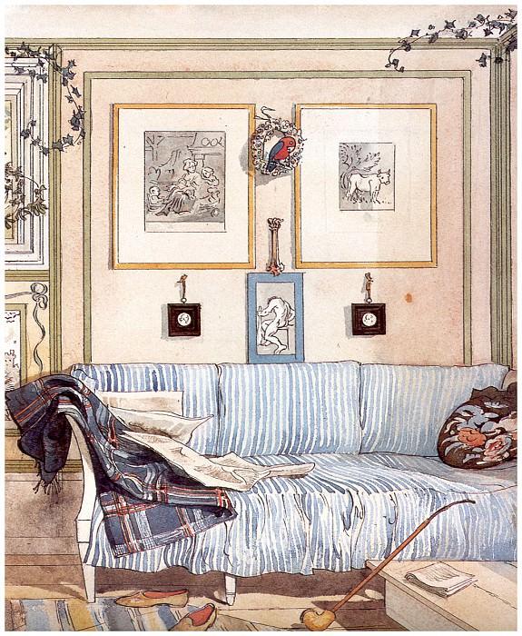 Угол лентяев (фрагмент), 1894-96. Карл Улоф Ларссон