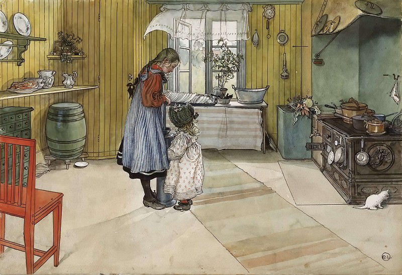 The Kitchen. From A Home. Carl Larsson