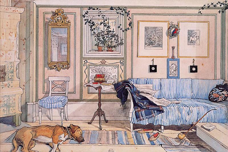 Cozy Corner 1894-97. Carl Larsson