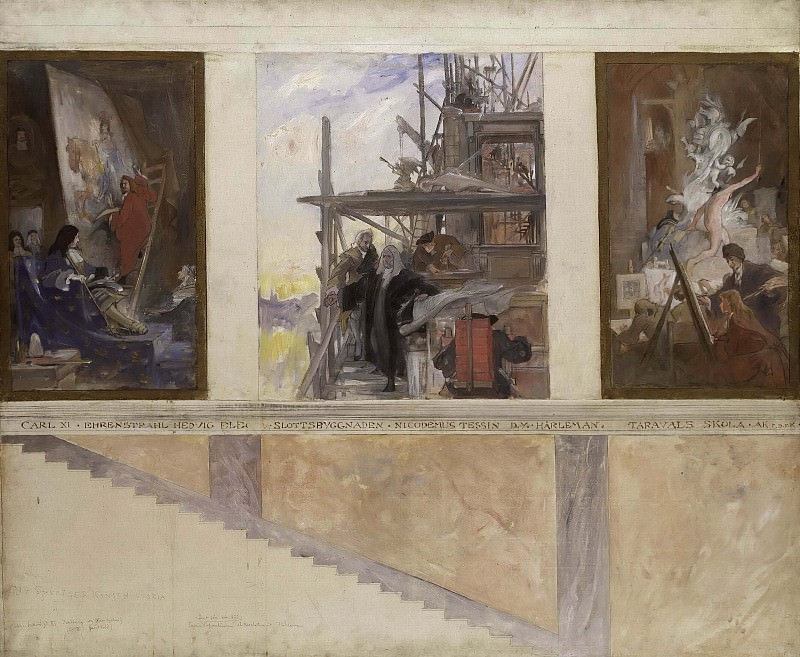 Second Proposed Decoration of the Walls in the Lower Hall of the Nationalmuseum. Carl Larsson